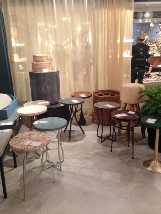 An assortment of fashionable tables from Made Goods