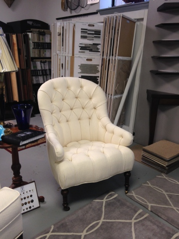 Taylor King Newbury Tufted Chair. Fabric. FLOOR MODEL SALE: $1,356.99 (Reg. $3.105.00)