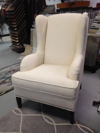 Taylor King Cheswick Wing Chair in fabric. FLOOR MODEL SALE: $1,140.99 (Reg. 2535.00)