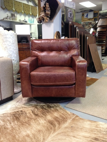 Jaymar Kirk Swivel Chair in Leather. FLOOR MODEL SALE: $1,403.99 (Reg. $3,120.00)