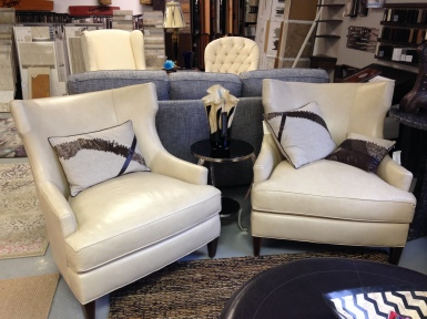 A pair of Taylor King Leather Chairs. Each Chair: SALE: $1,410.75 (Reg. $3,135.00 )