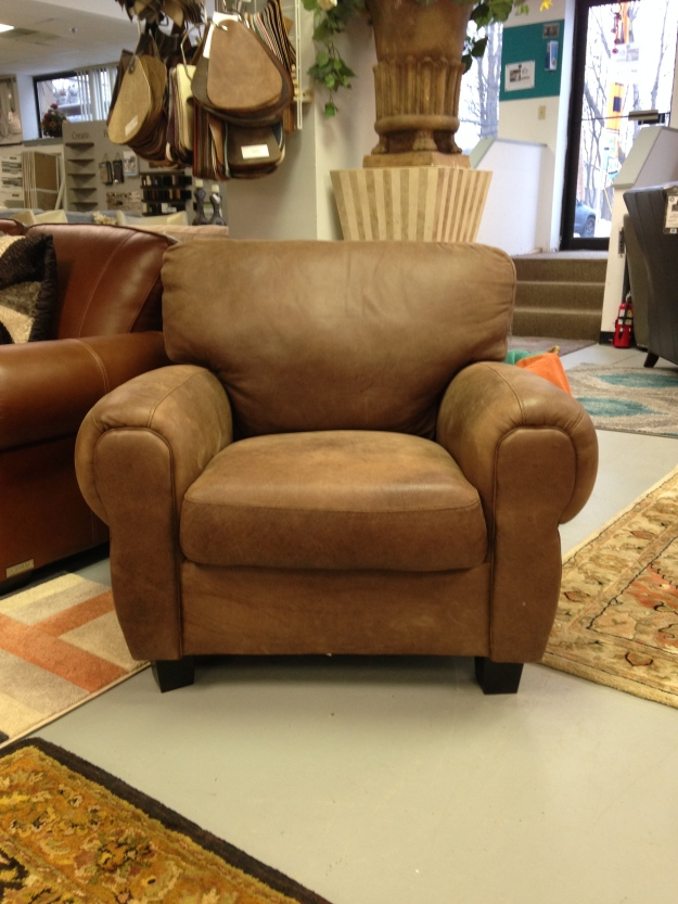 Luke Leather Houston Chair. FLOOR MODEL SALE: $816.99 (Reg. $1,815.00)