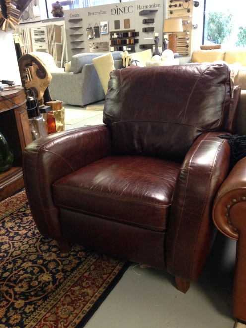 Luke Leather Jennifer Chair. FLOOR MODEL CLEARANCE: $607.99 (Reg. $1,350.00