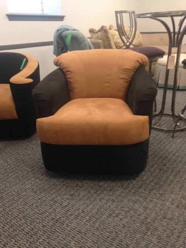 Two Tone Swivel Chair. SALE: $699.00