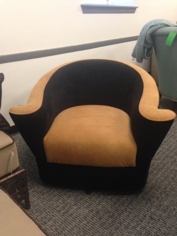 Two Tone Swivel Chair. SALE $699.99